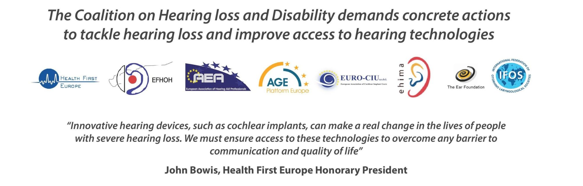The Coalition on Hearing Loss and Disability Manifesto Launch